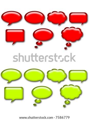 Web Button Talk Bubbles - stock photo