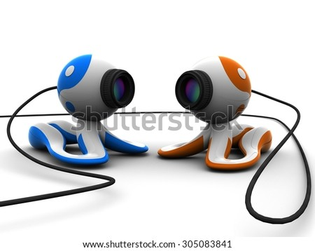 web cam - stock photo