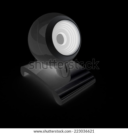 Web-cam on a black background - stock photo
