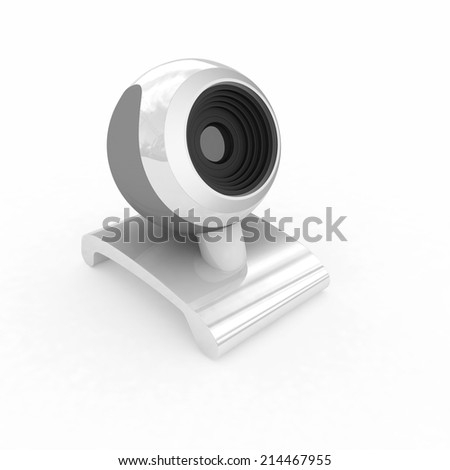 Web-cam on a white background - stock photo