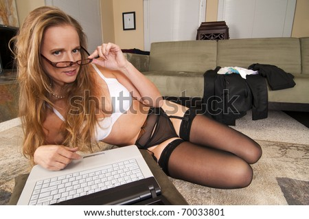 Web Cam Striptease #16 - stock photo