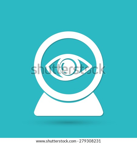 Web camera eye icon - stock photo