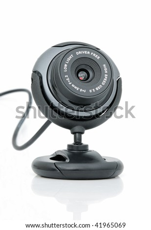 Web-camera for internet video-conference on a white background