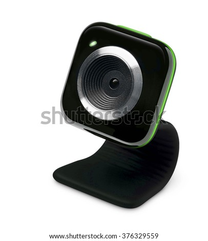 web camera isolated of white background