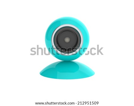 web camera on a white background, 3d illustration