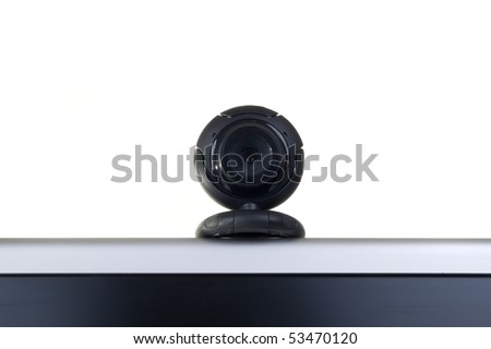 Web camera on monitor