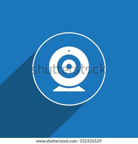 Web camera sign icon, illustration. Flat design style for web and mobile.
