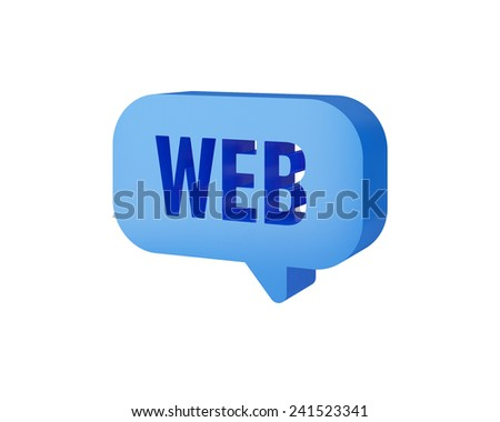 web chat 3d text - stock photo