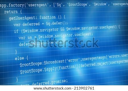 web code sample - stock photo