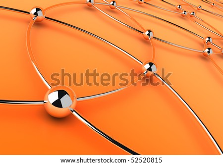 web communication abstract background - stock photo