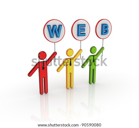 WEB concept.Isolated on white background.3d rendered. - stock photo