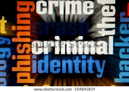 Web crime concept - stock photo