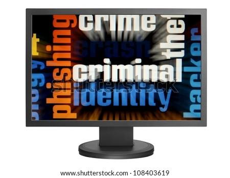 Web criminal - stock photo