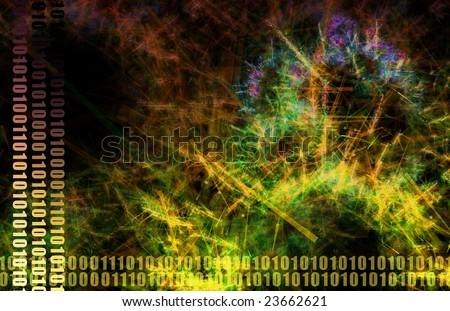 Web Data File Sharing Network Abstract Art - stock photo