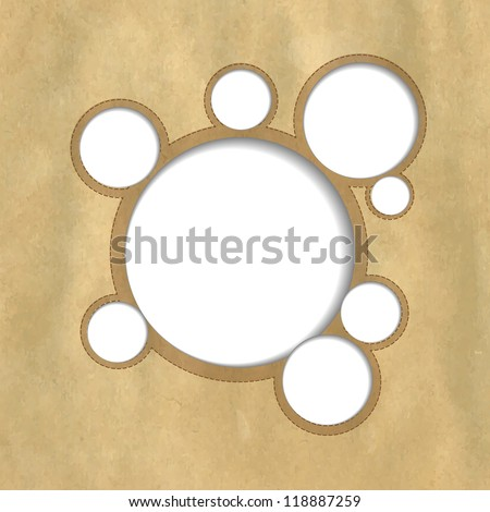 Web Design Bubbles With Vintage Paper - stock photo