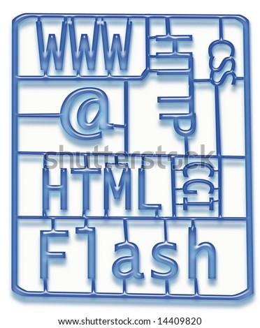 Web Design Development Kit - stock photo
