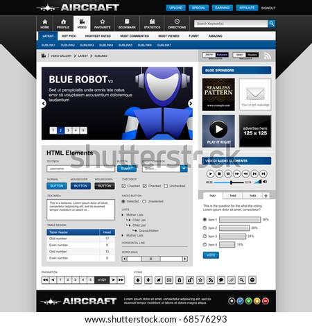 Web Design Elements Template - stock photo