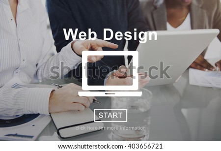 Web Design Homepage Internet layout Software Concept - stock photo