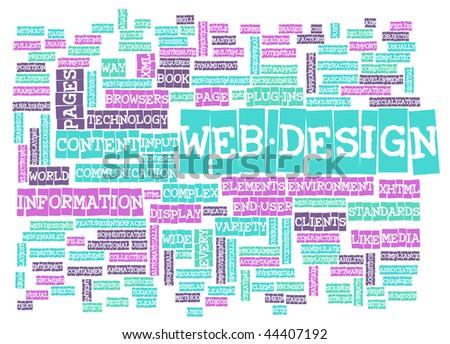 Web Design Process for a Website Graphic Designer - stock photo