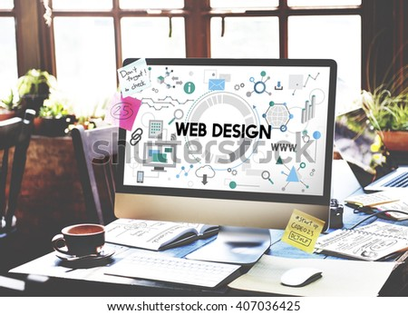 Web Design Technology Browsing Programming Concept - stock photo