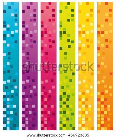 Web design vertical banners set. - stock photo