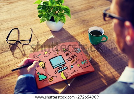 Web Design Web Development Responsive Branding Concept - stock photo