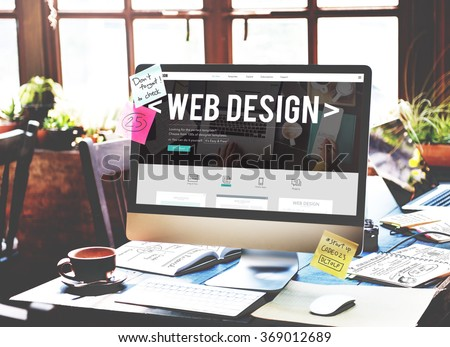 Web Design Website Homepage Ideas Programming Concept - stock photo