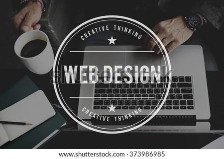 Web Design Website Homepage Ideas Programming Concept - stock photo