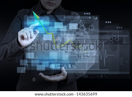 web designer working on modern computer