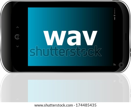Web development concept: smartphone with word wav on display - stock photo