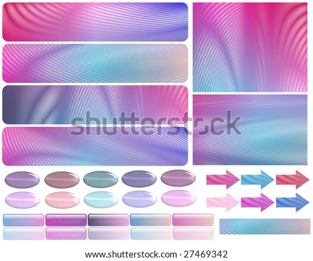 Web Elements - stock photo