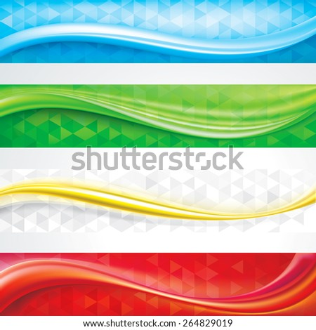 Web header banners abstract design  background. - stock photo