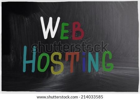 web hosting concept - stock photo