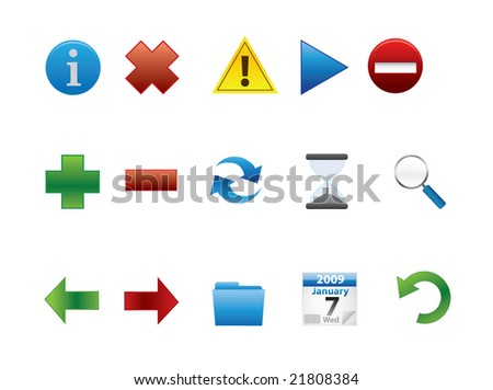 Web Icons JPEG (Please see my portfolio for the vector version) - stock photo