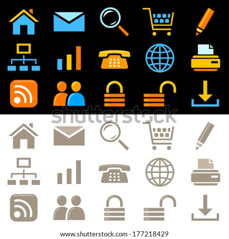 Web icons. Raster version of EPS image 47070610