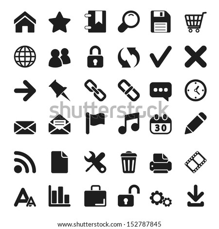 Web icons set