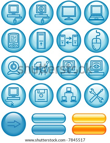 Web Icons Set – Hardware (If you need this set in vector format - you'll find it in my portfolio)