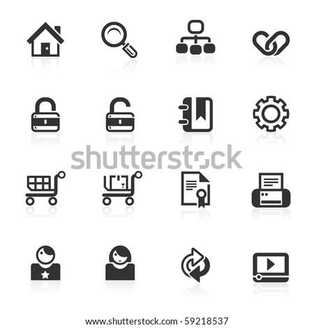 web & Internet icons 1 - minimo series - stock photo
