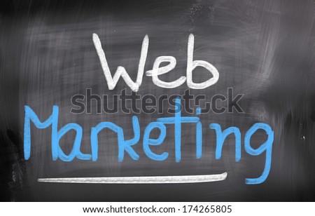 Web Marketing Concept - stock photo