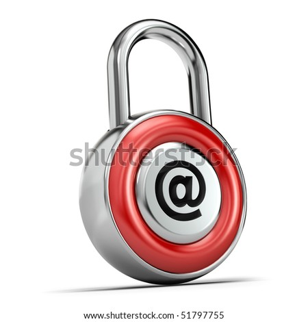 Web padlock, Internet security concept