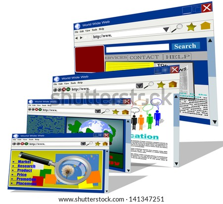 web pages internet computer net connection - stock photo