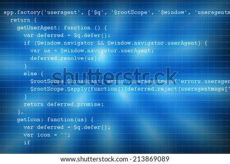 Web programming code - stock photo