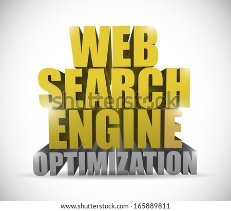 web search engine optimization sign illustration design over a white background - stock photo