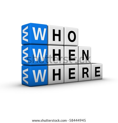 web searching  (blue-white cubes crossword series) - stock photo