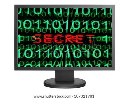 Web secret concept - stock photo