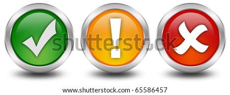 Web security buttons - stock photo