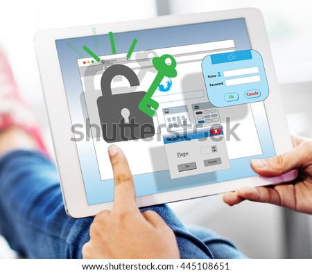 Web Security Internet Protection Safety Concept - stock photo