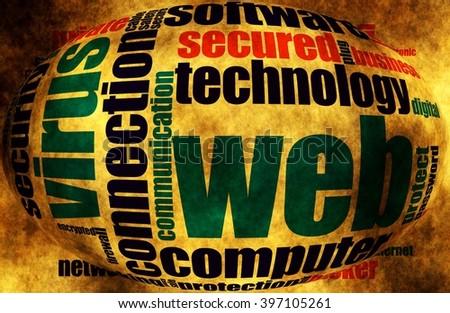 Web security word cloud - stock photo