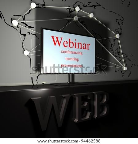web seminar - stock photo
