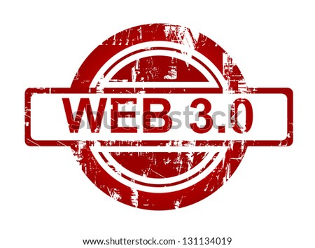 Web 3.0 stamp isolated on white background.